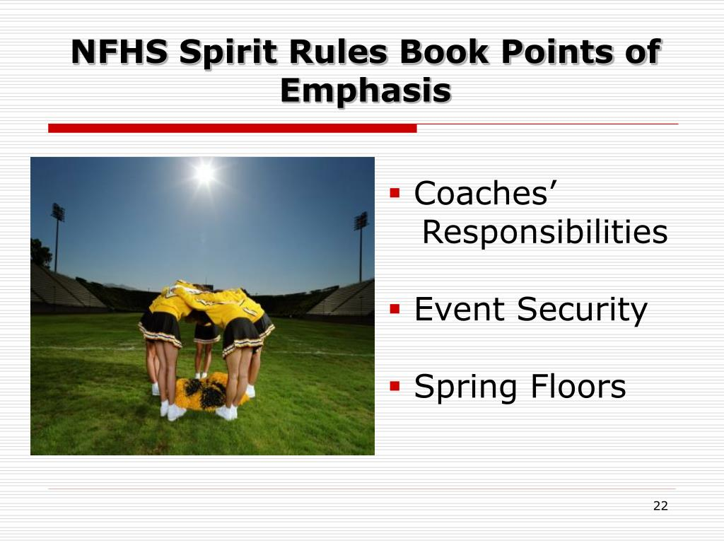 NFHS Spirit Rules Book Points of Emphasis