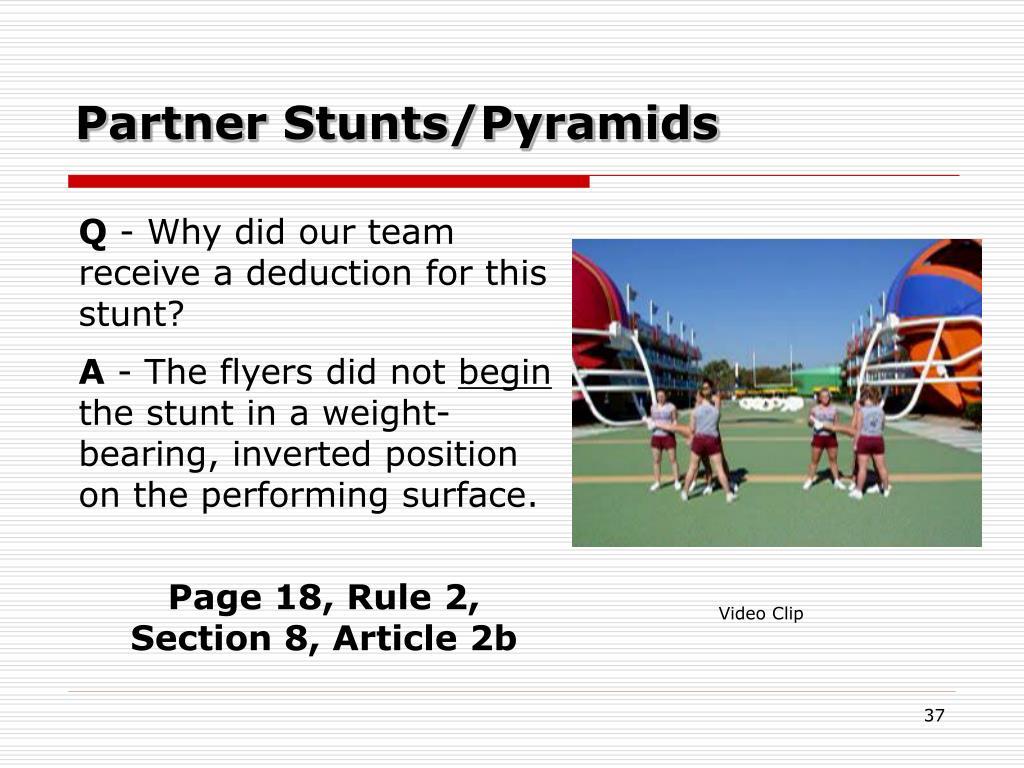 Partner Stunts/Pyramids