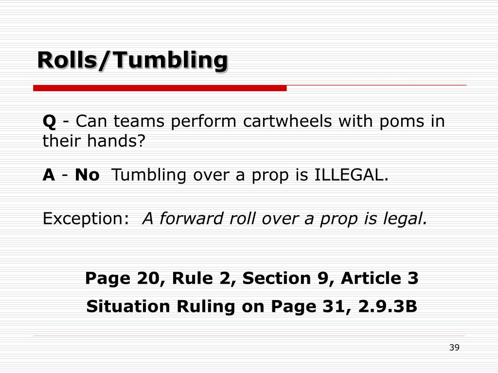 Rolls/Tumbling