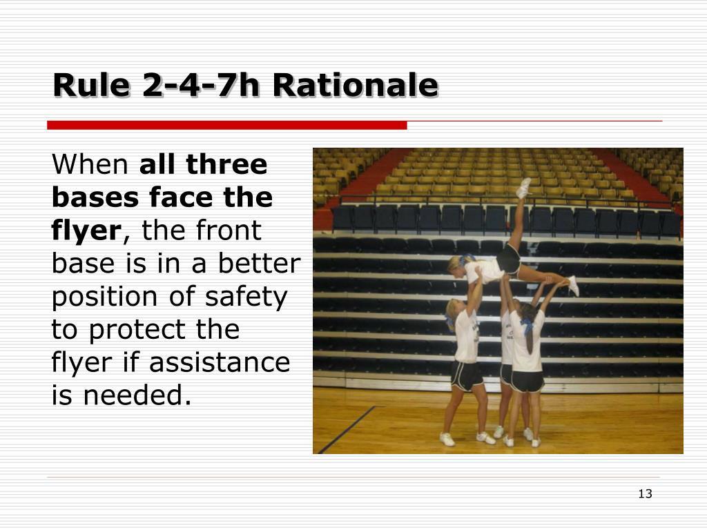 Rule 2-4-7h Rationale