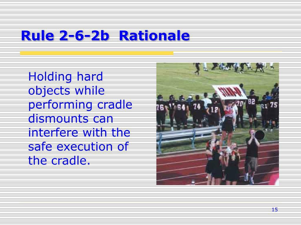 Rule 2-6-2b  Rationale