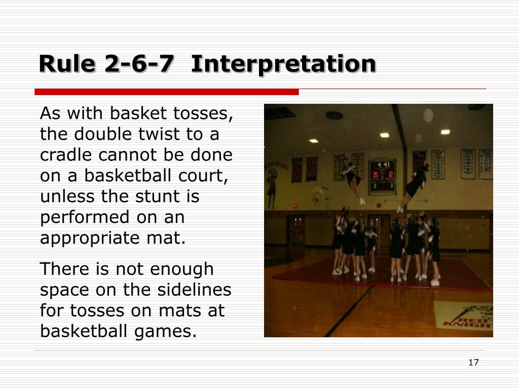 Rule 2-6-7  Interpretation