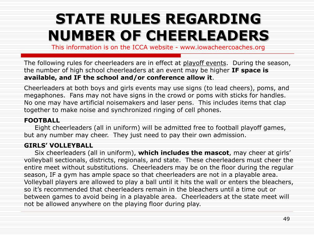 STATE RULES REGARDING