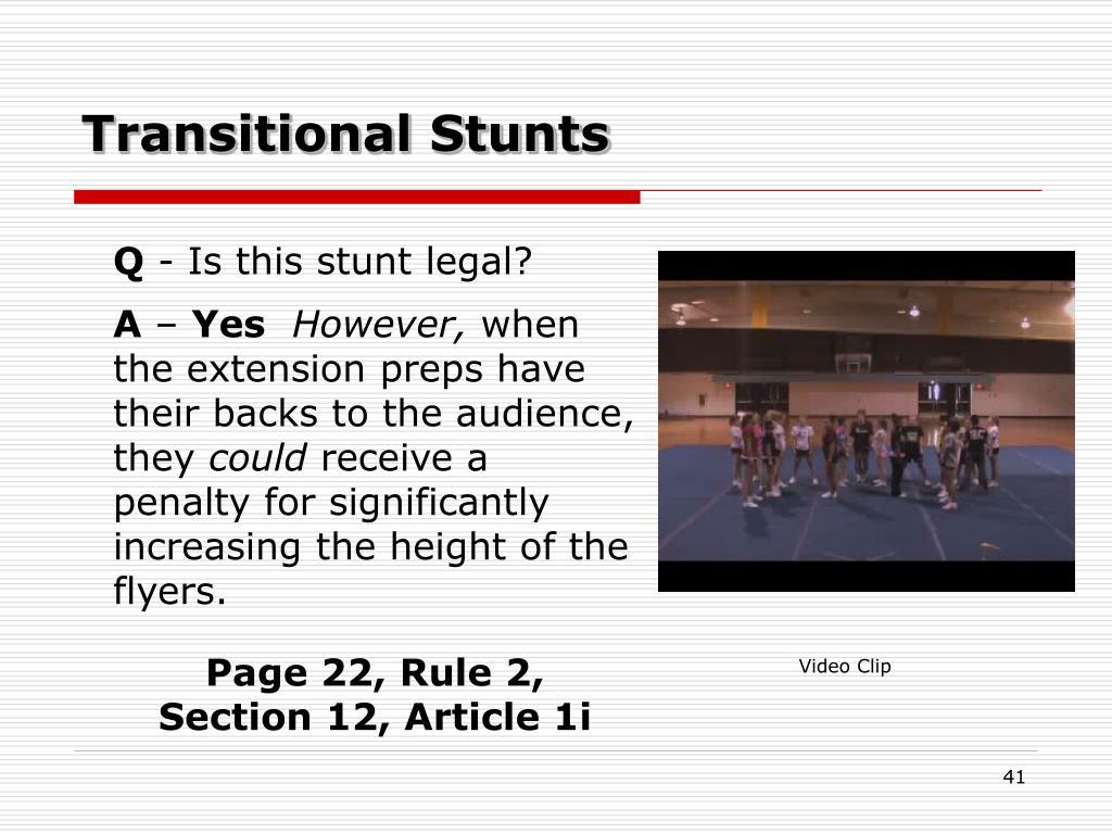Transitional Stunts