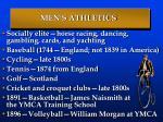 men s athletics