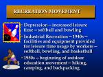 recreation movement
