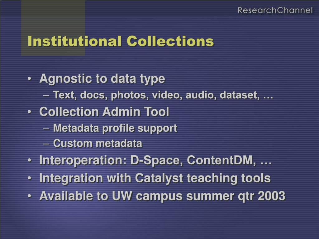 Institutional Collections