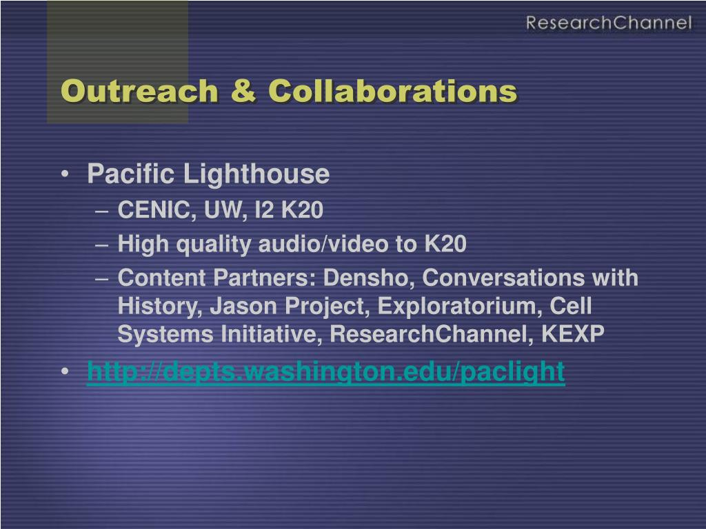 Outreach & Collaborations