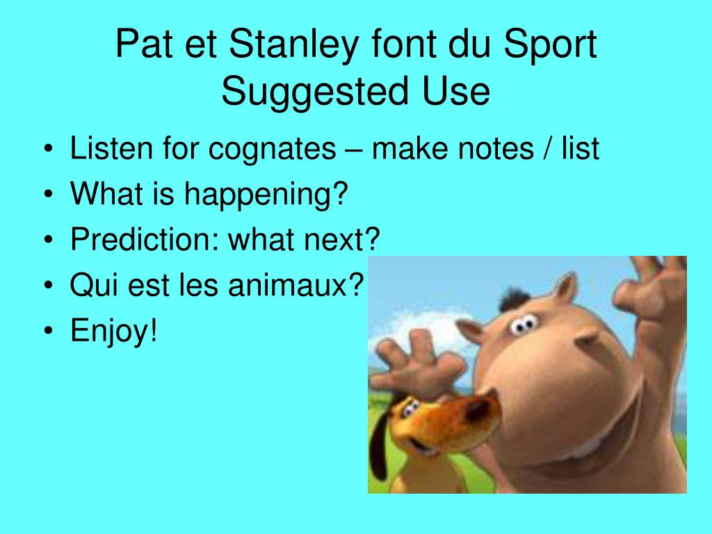 Pat et Stanley font du Sport