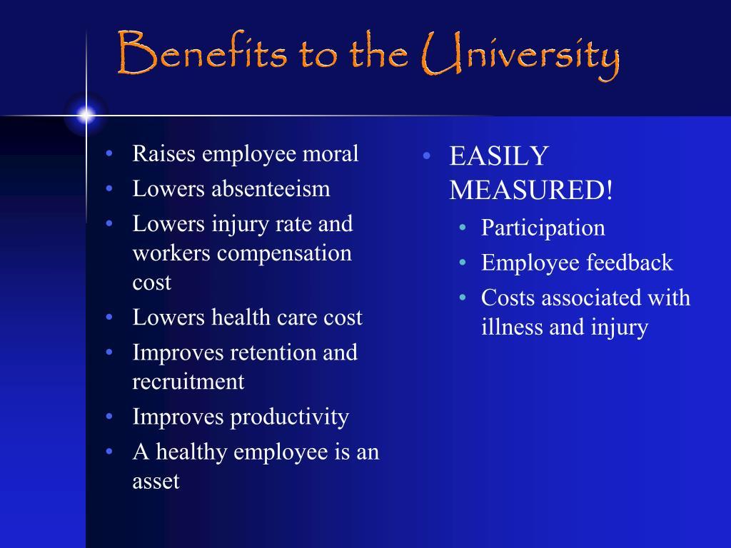 Raises employee moral