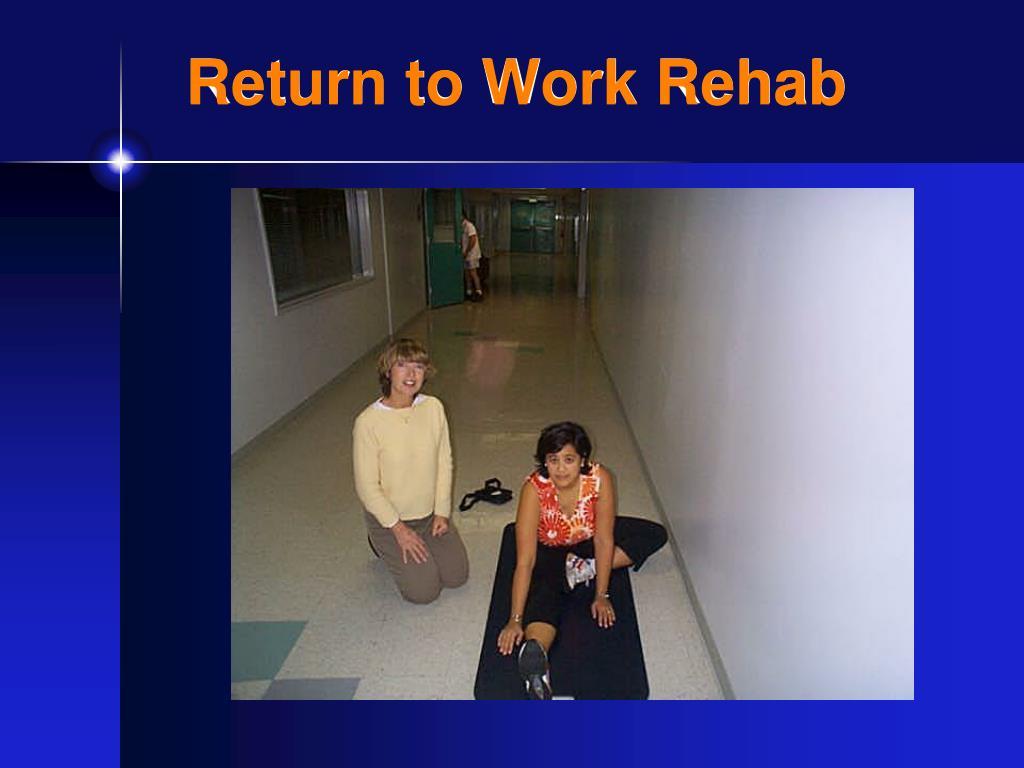Return to Work Rehab