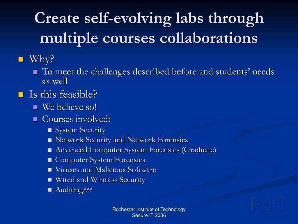 Create self-evolving labs through multiple courses collaborations