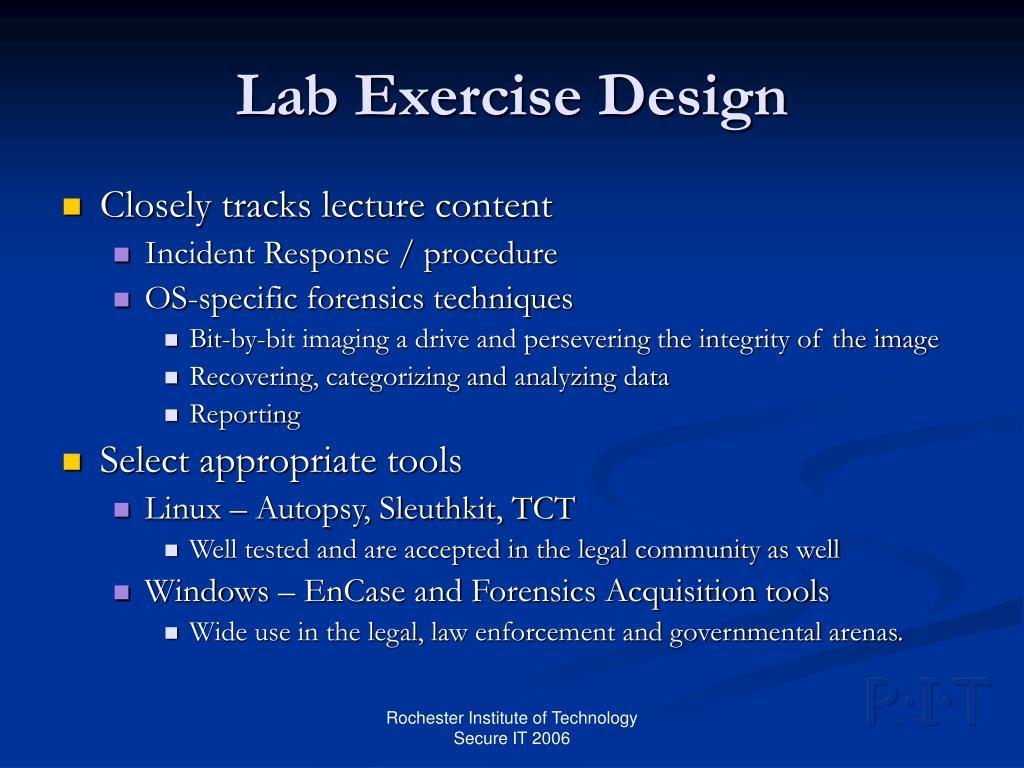 Lab Exercise Design
