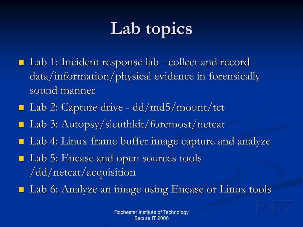 Lab topics