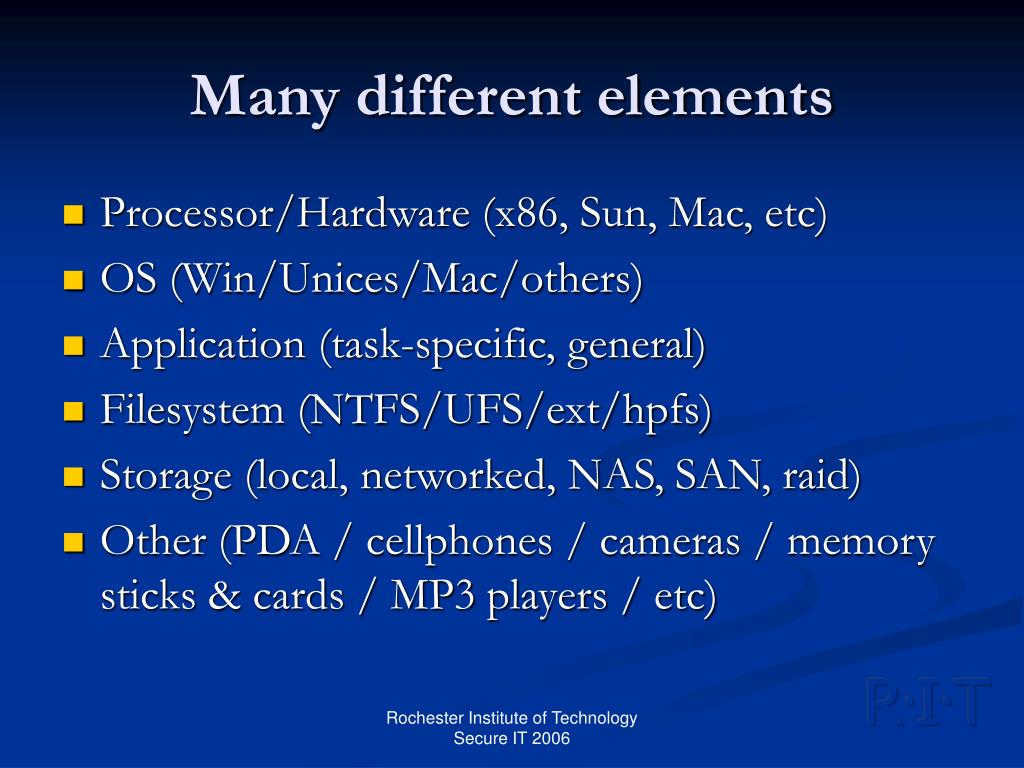 Many different elements