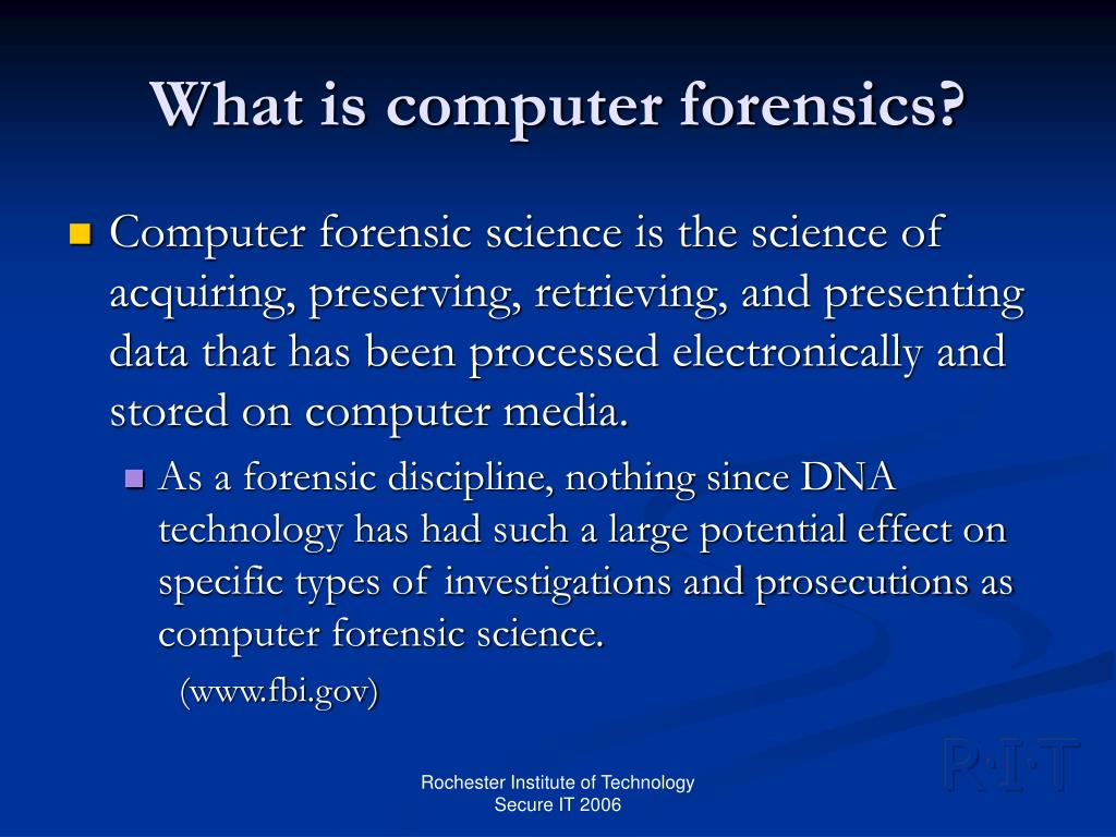 What is computer forensics?