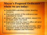 mayor s proposed ordinance where we are today