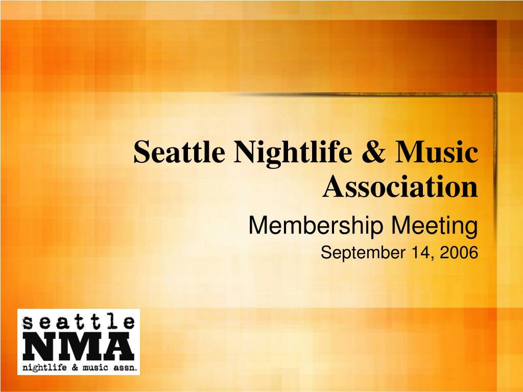 Seattle Nightlife & Music Association