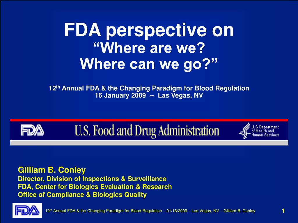 FDA perspective on