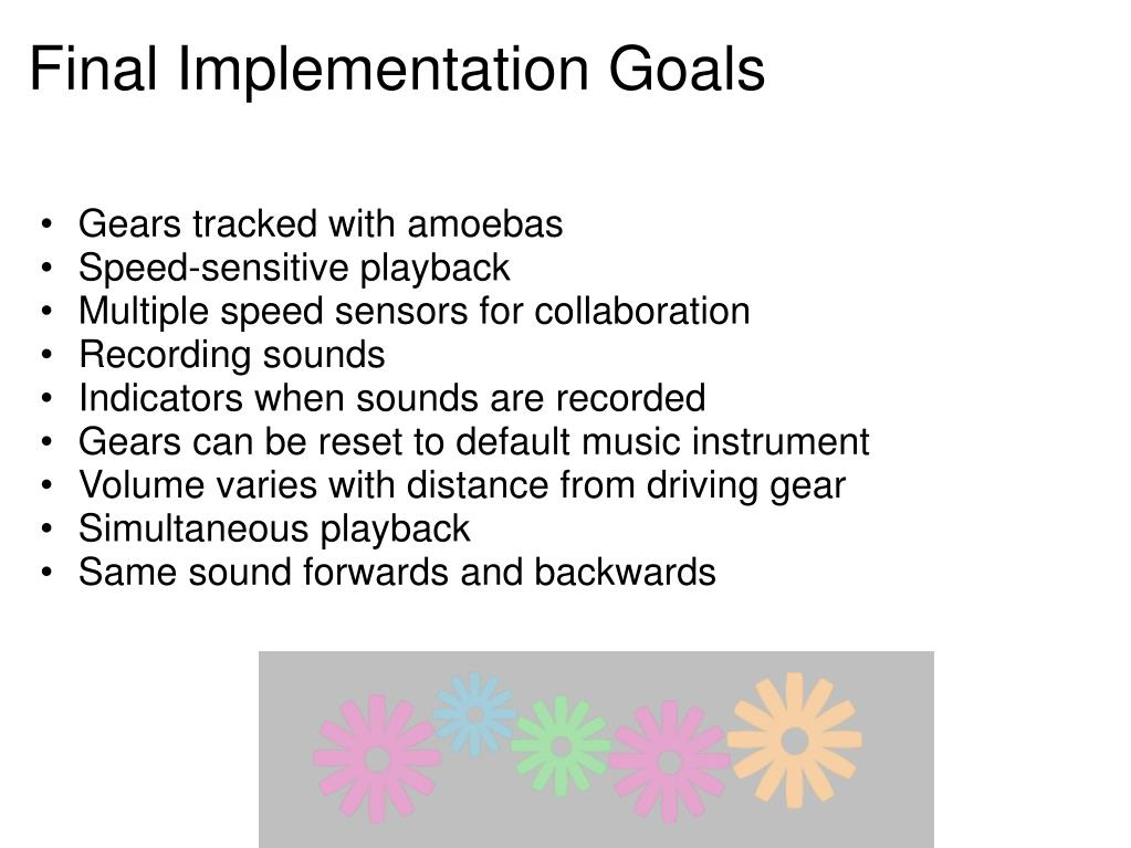 Final Implementation Goals