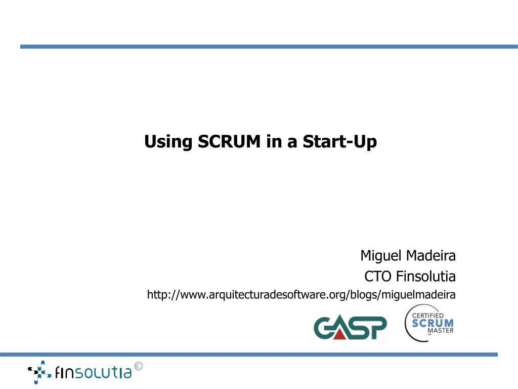 using scrum in a start up