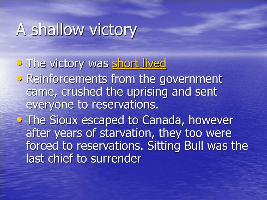 A shallow victory