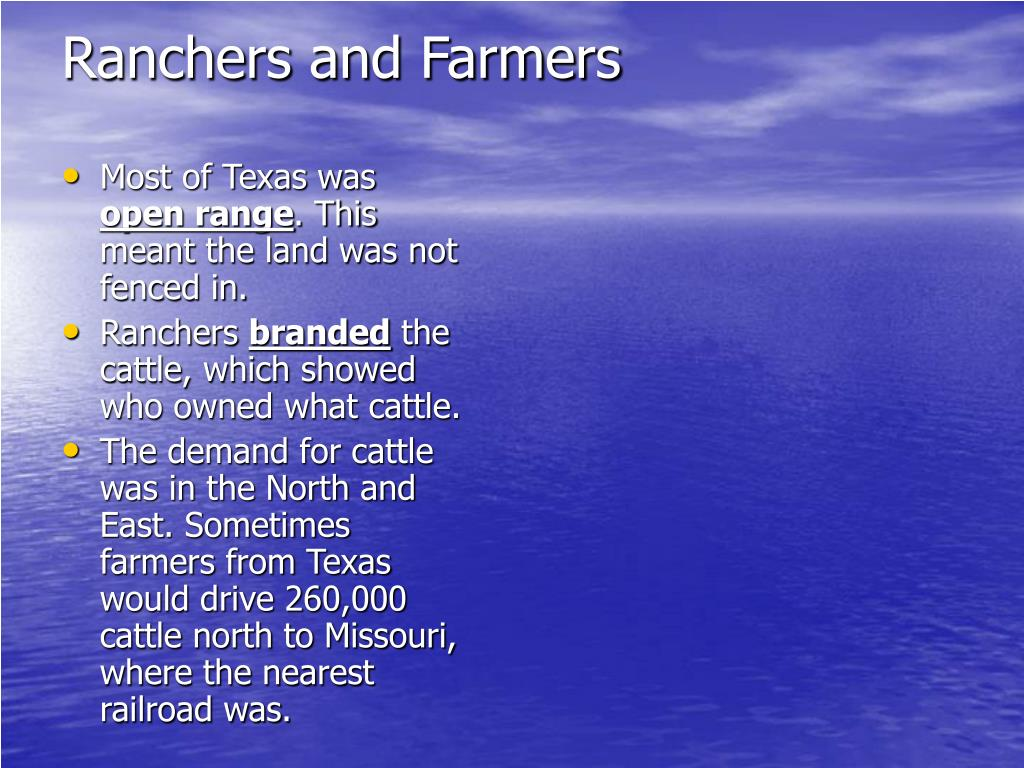 Ranchers and Farmers