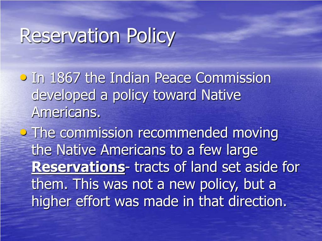 Reservation Policy