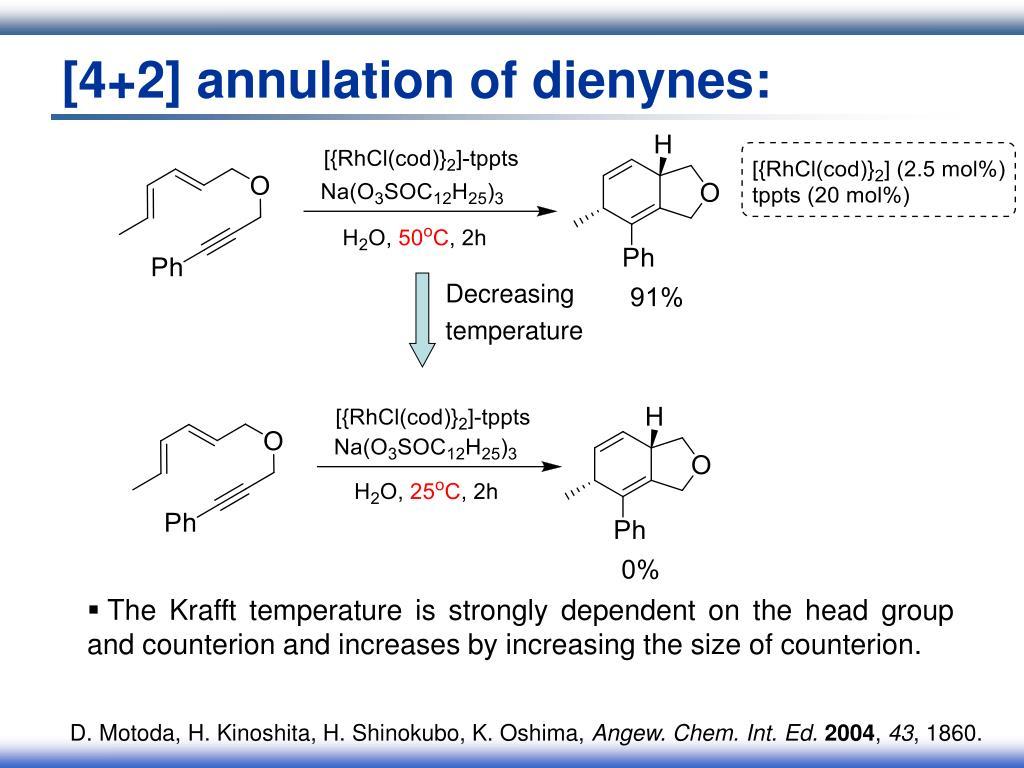 [4+2] annulation of dienynes: