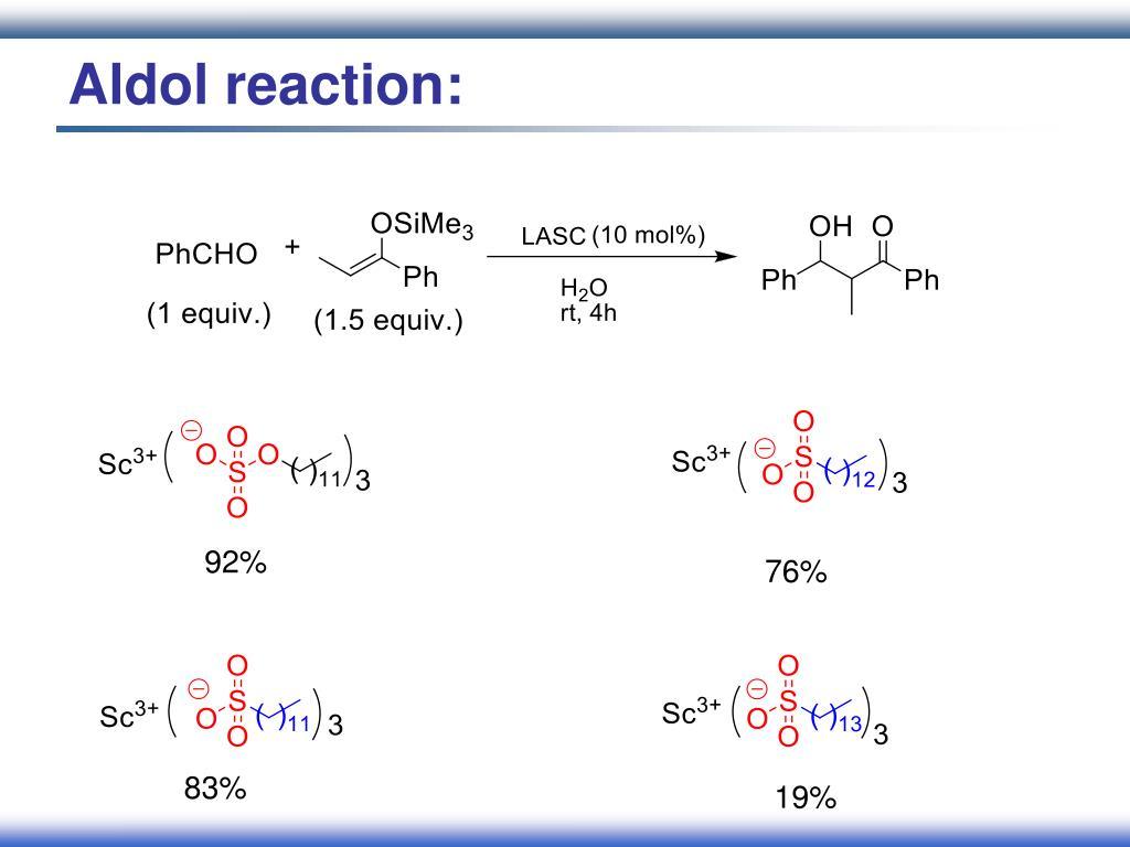 Aldol reaction: