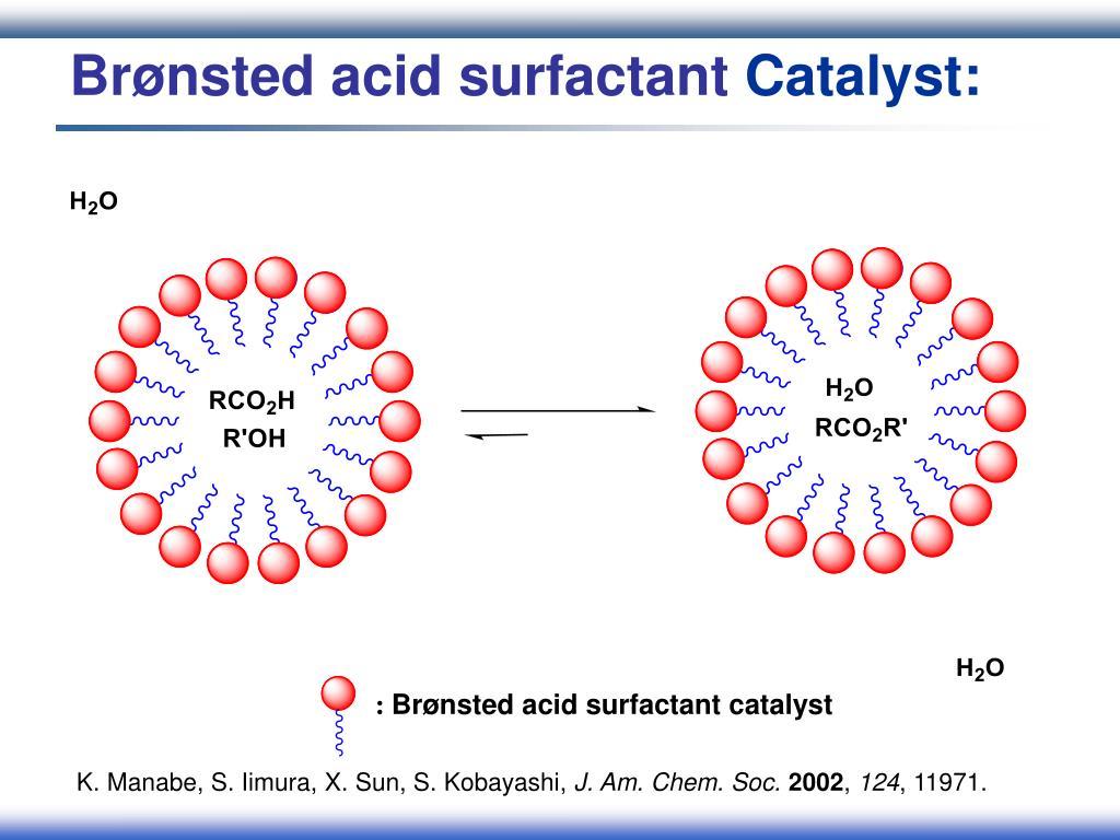 Brønsted acid surfactant