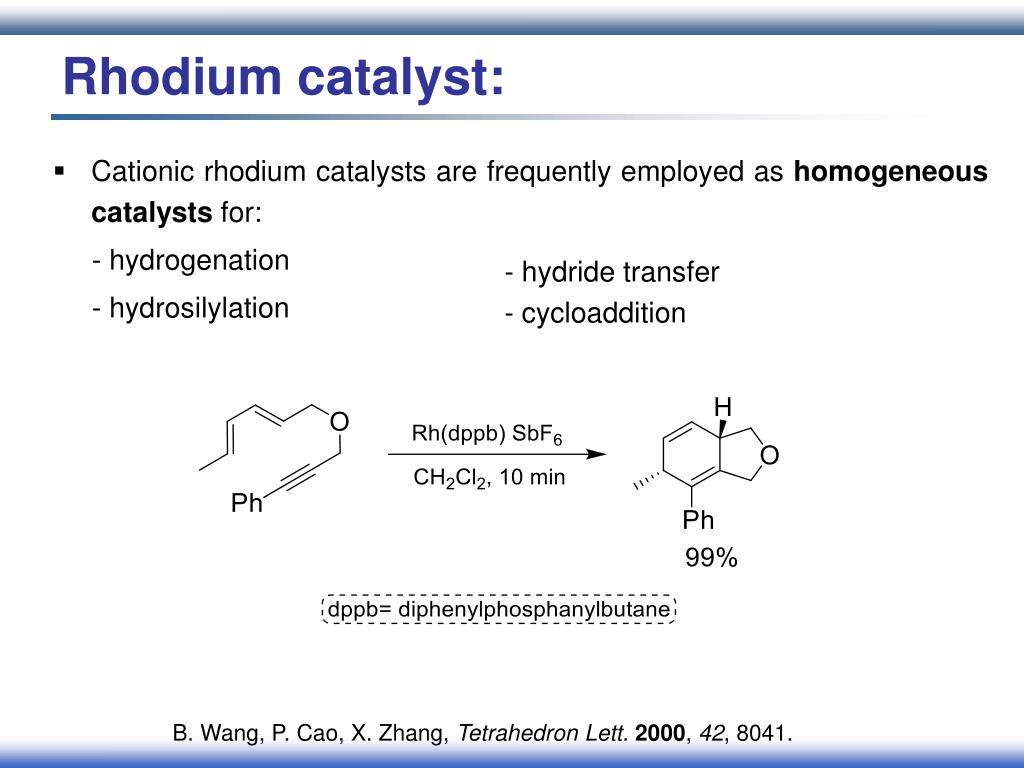 Rhodium catalyst: