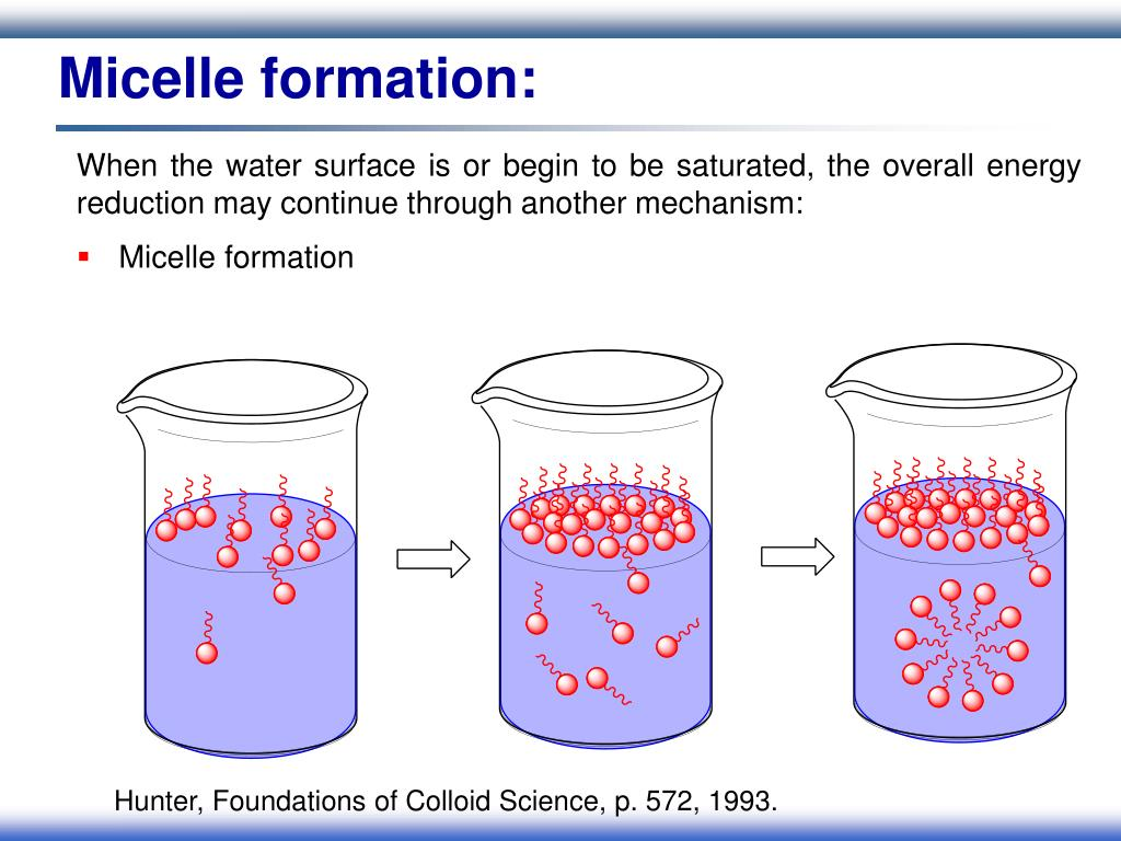 Micelle formation: