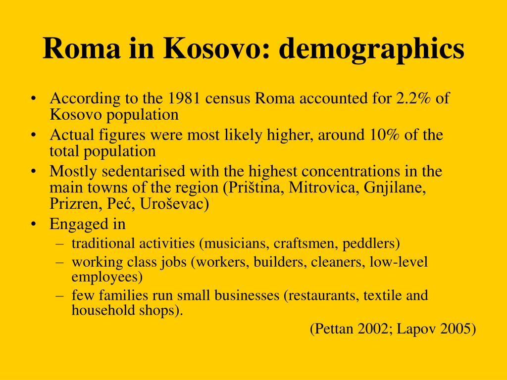 Roma in Kosovo: demographics