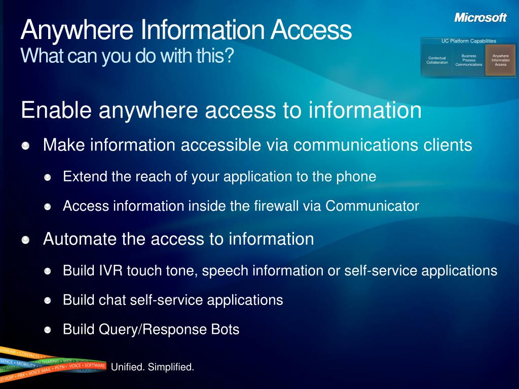 Anywhere Information Access