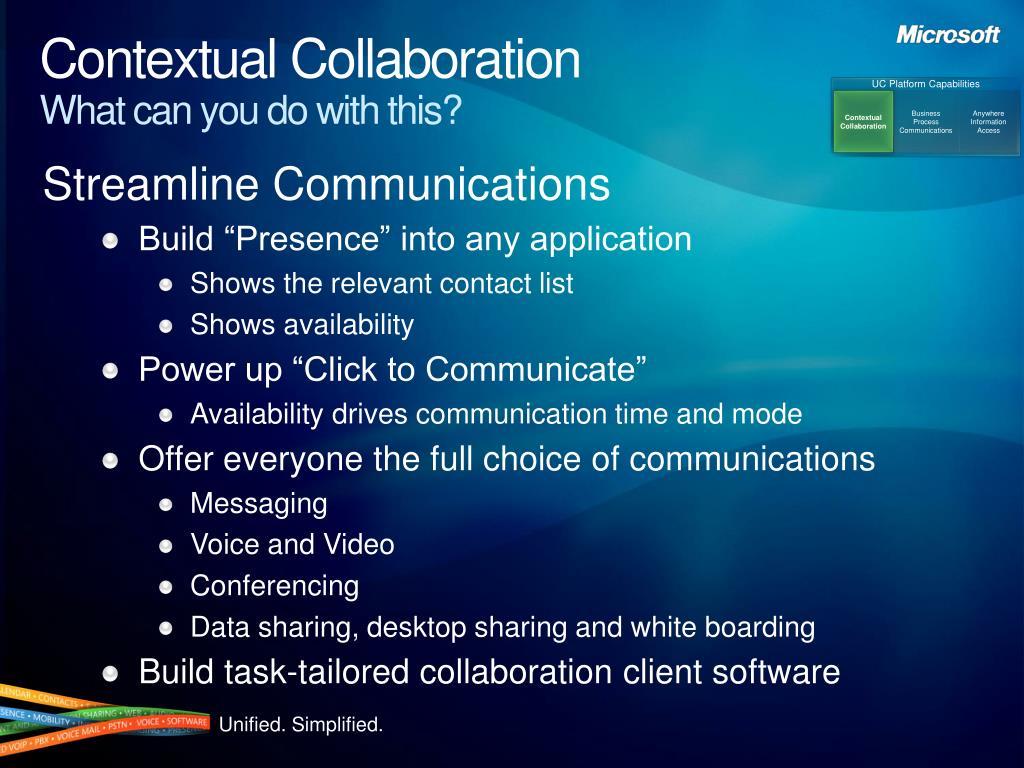 Contextual Collaboration