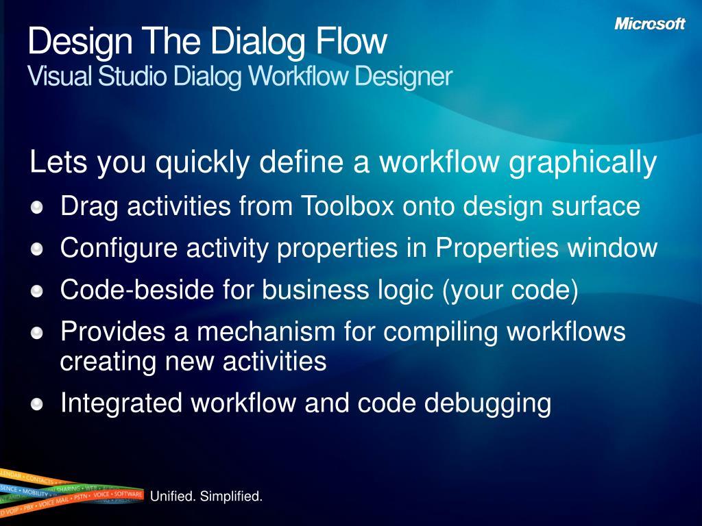 Design The Dialog Flow