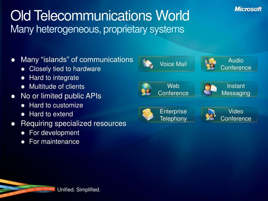 Old Telecommunications World