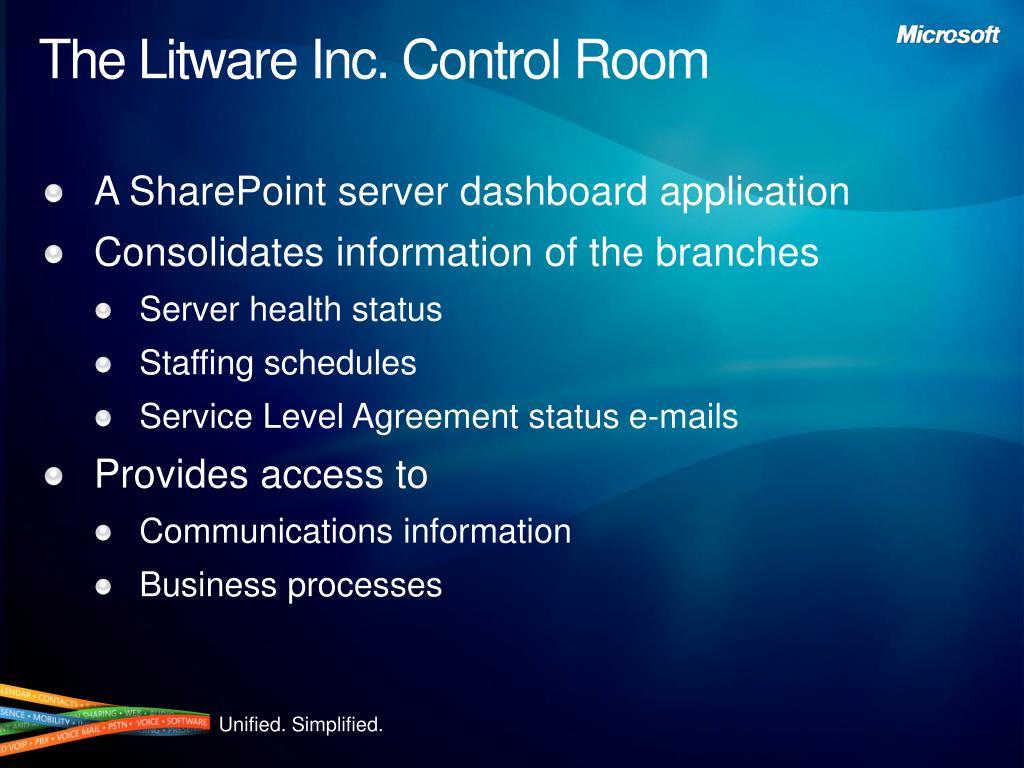 The Litware Inc. Control Room