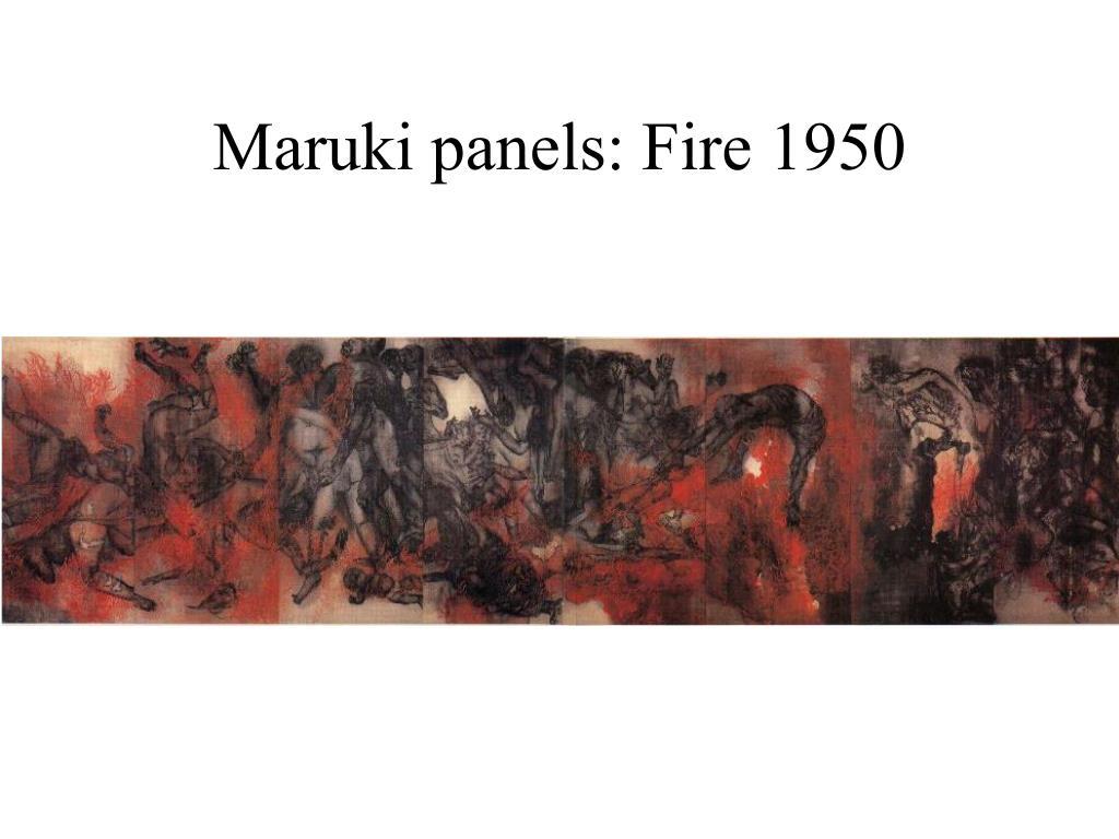 Maruki panels: Fire 1950