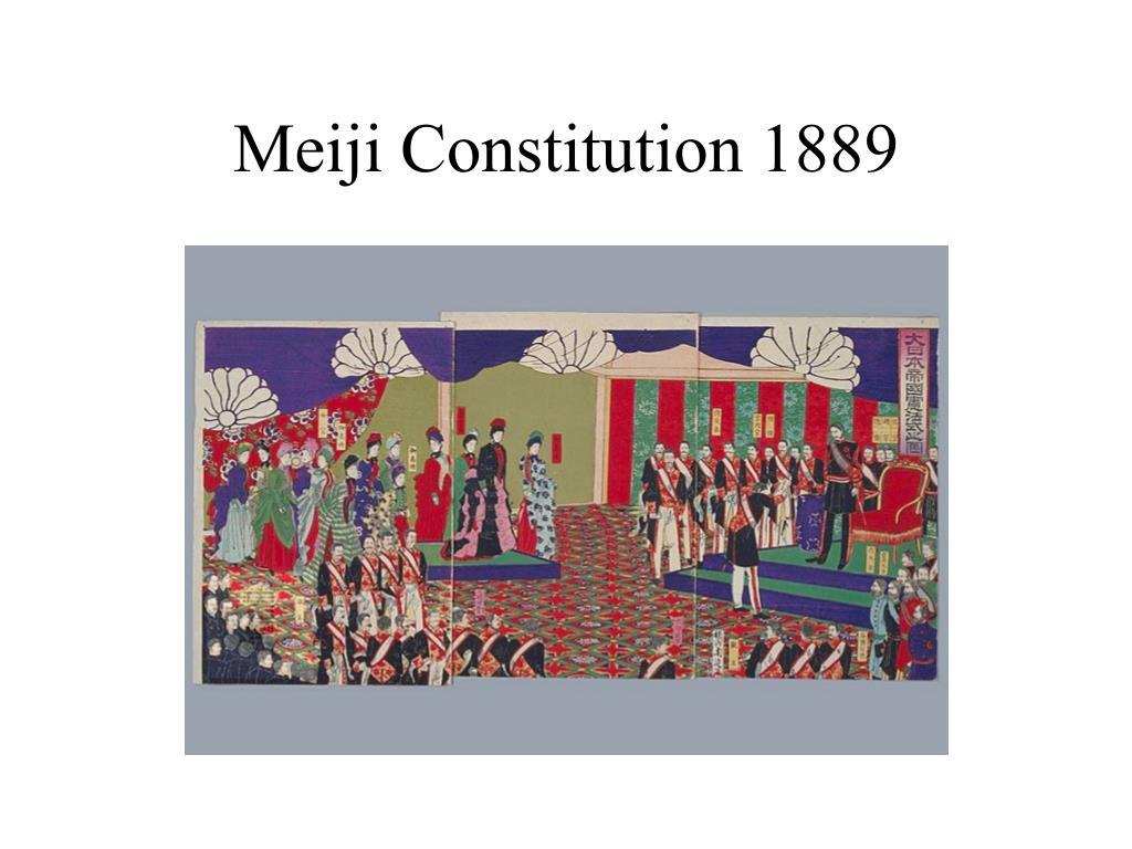 Meiji Constitution 1889