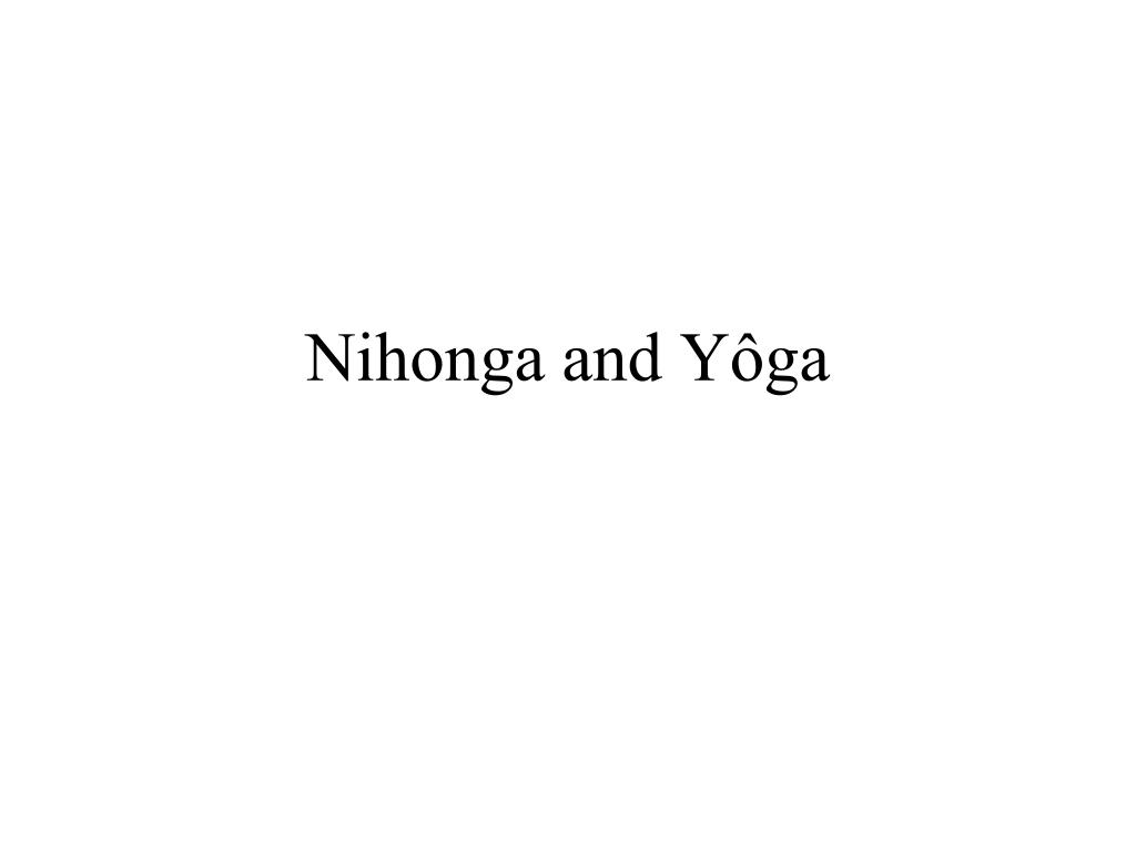 Nihonga and Yôga