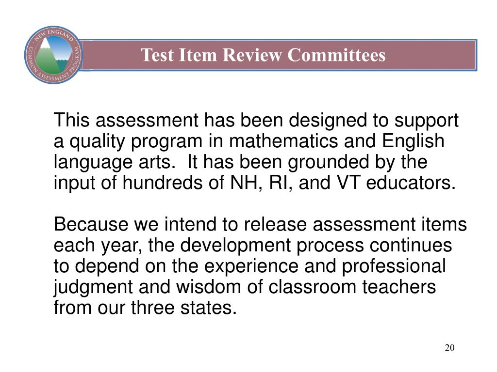 Test Item Review Committees