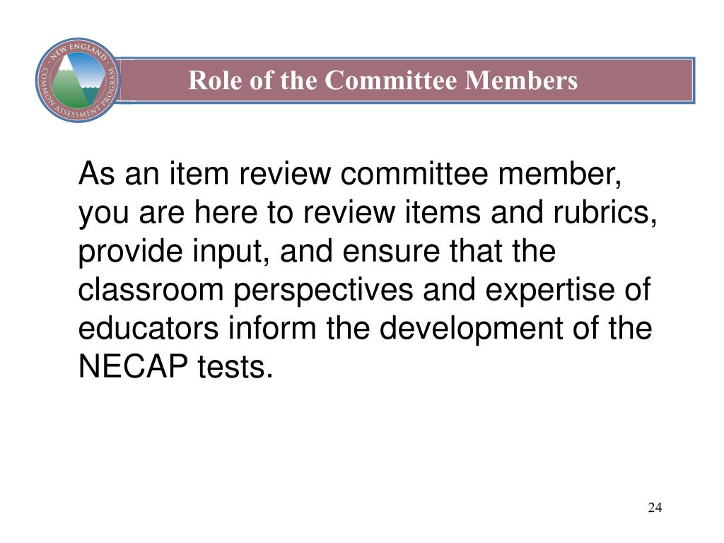 Role of the Committee Members