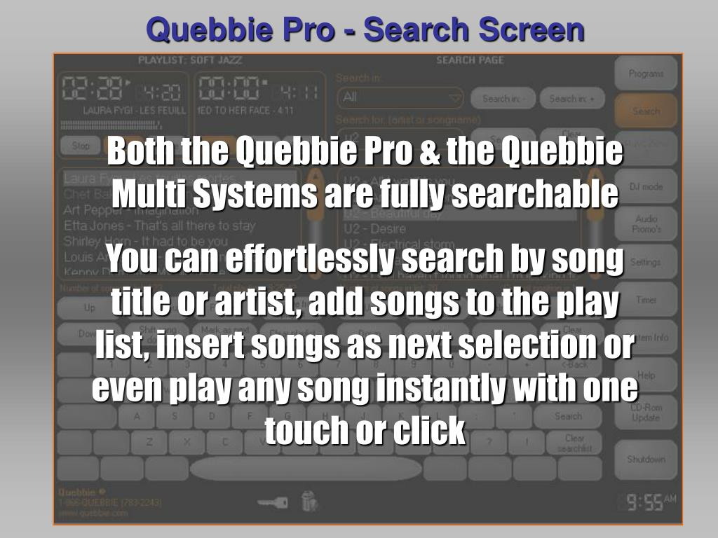 Quebbie Pro - Search Screen