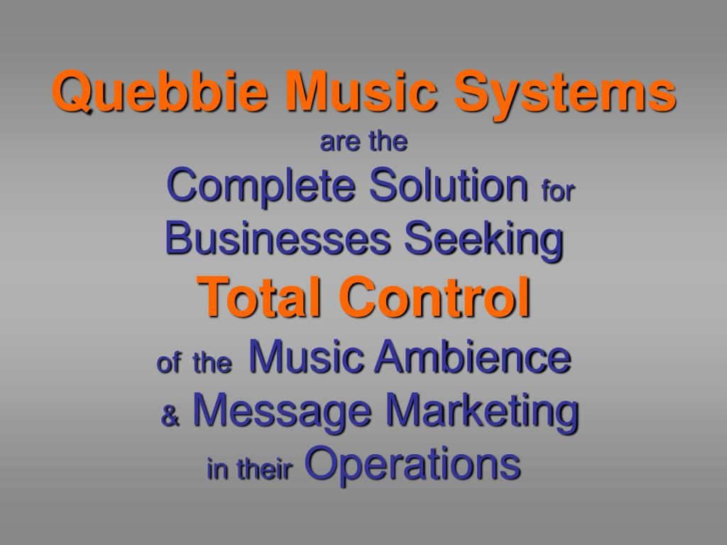 Quebbie Music Systems