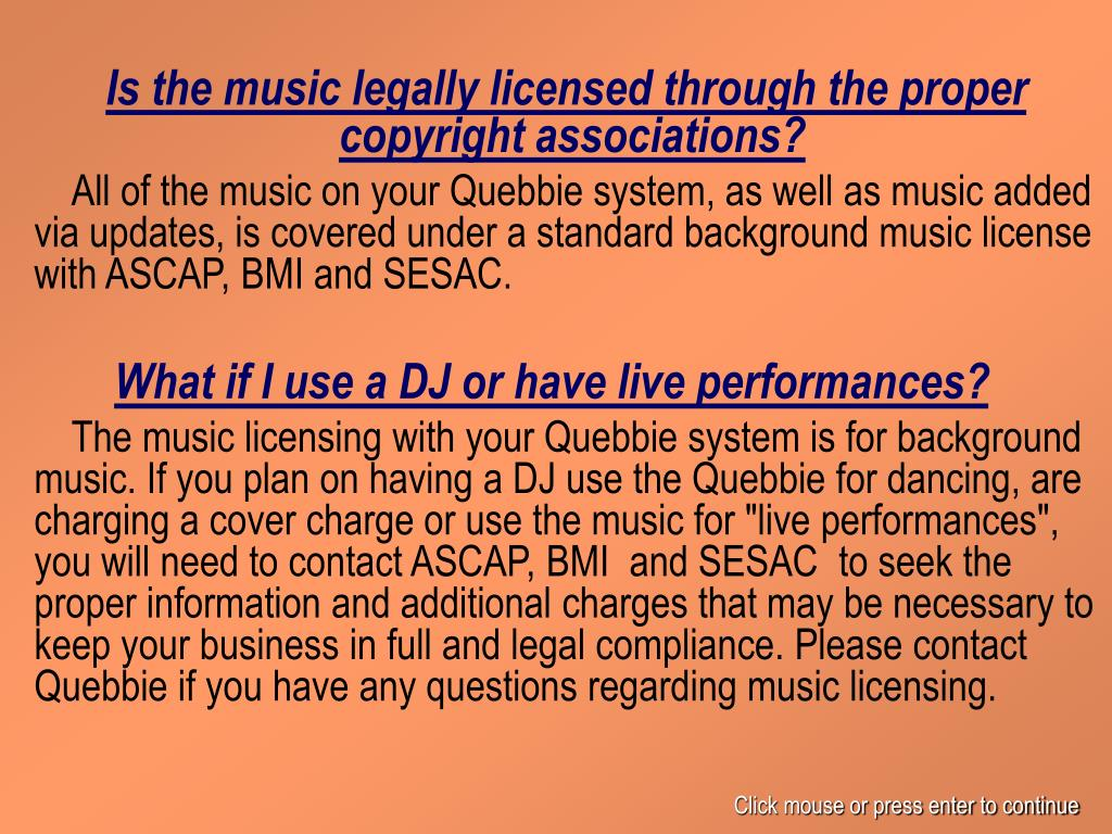 Is the music legally licensed through the proper