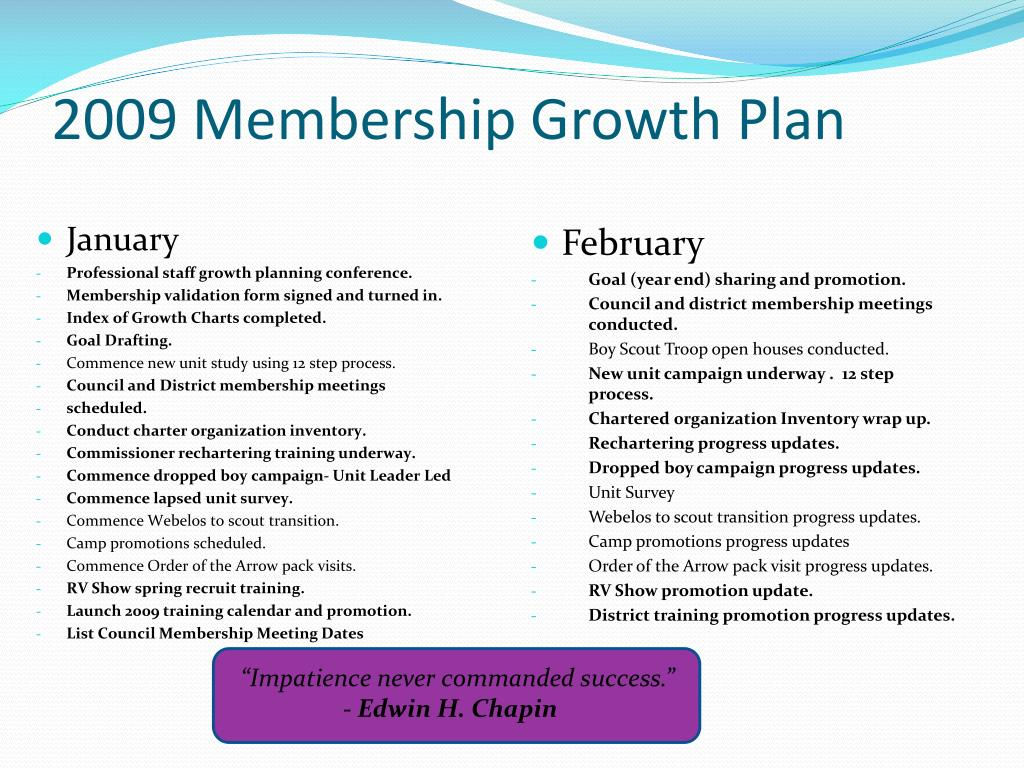2009 Membership Growth Plan