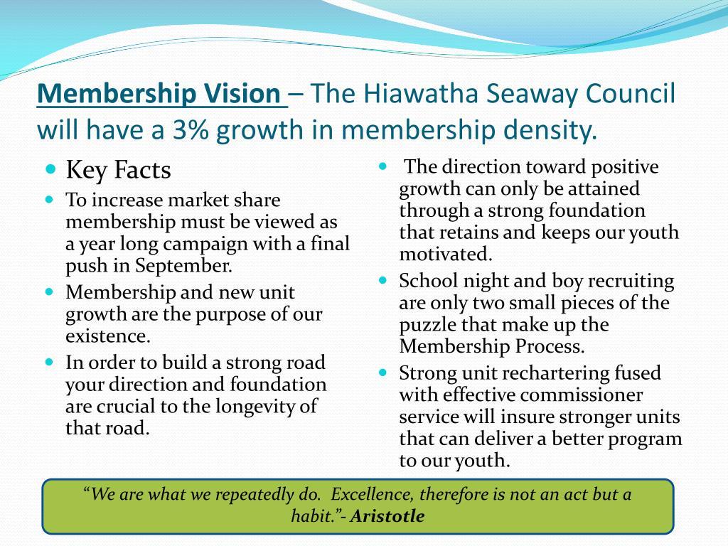 Membership Vision