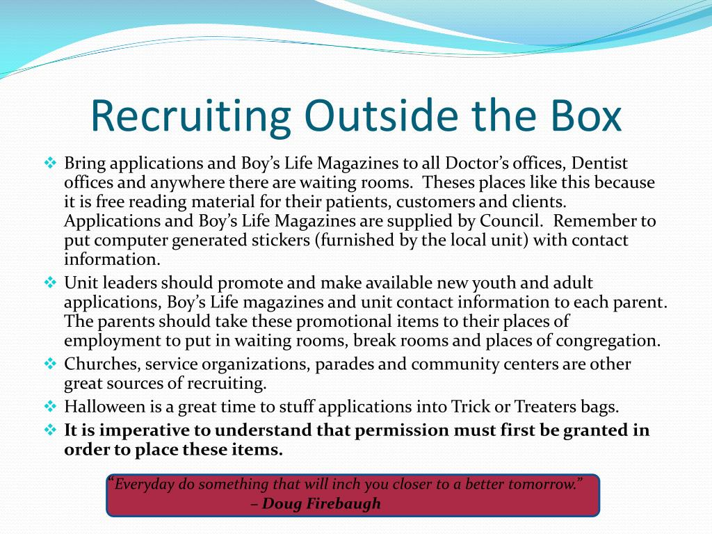 Recruiting Outside the Box